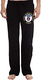 US Army Veteran 10th Mountain Infantry Division Mens Fit Joggers Jersey Sweatpants for Gym Training