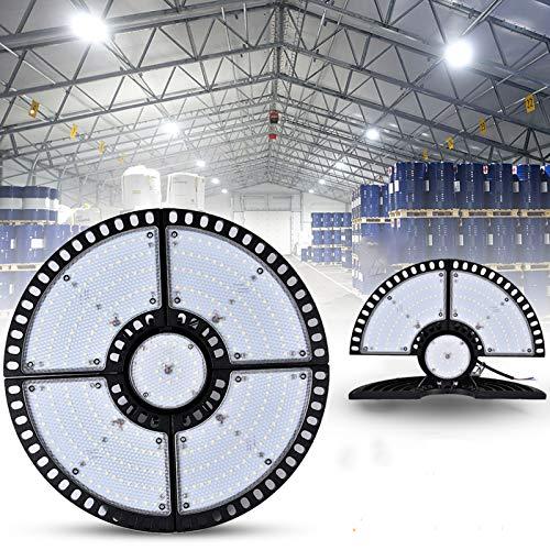 TYCOLIT 200W Proiettore Faretto LED Lampadario UFO Lampada Interni Industriale LED Luce Bianca 6000K, Impermeabile IP67 Fari Potente Risparmio Energetico Faretto per Soggiorno Officine e Case