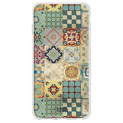 Funnytech® siliconen beschermhoes voor Huawei Mate 30 [siliconengel, flexibel, exclusief design] textuur, verbleekte tegels, verschillende kleuren 2