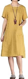 FTCayanz Women's Summer Casual T-Shirt Dress Short Sleeve Swing Dresses with Pocket