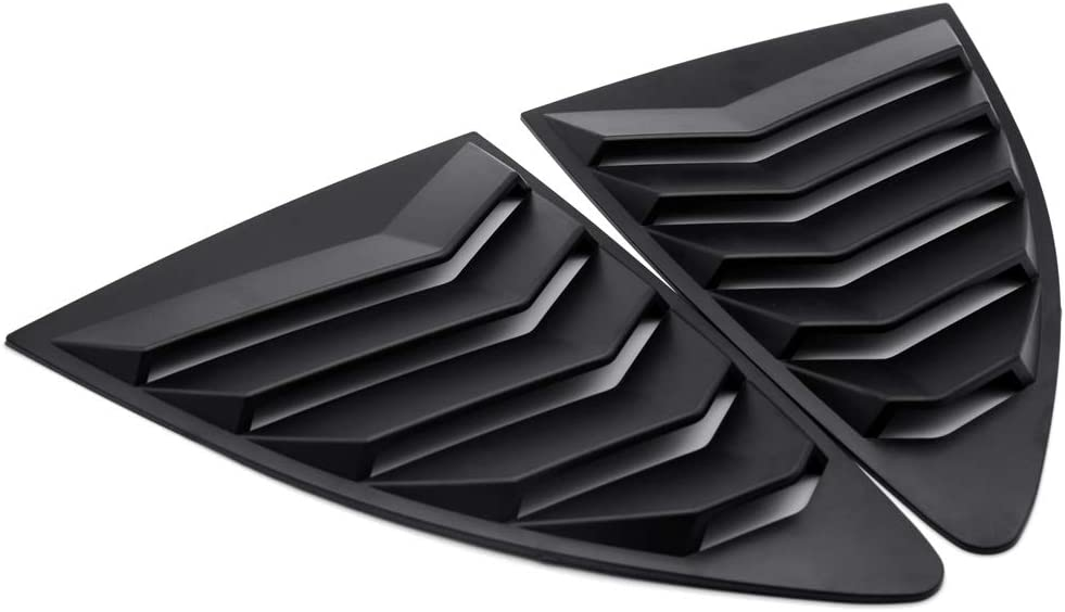 Minneapolis Mall GZBSTDQ Hood Vents Black Style Rear Fi ABS Quarter Window Louver Manufacturer direct delivery