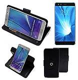 K-S-Trade® Case Schutz Hülle Für Nubia Z17 Mini S Handyhülle Flipcase Smartphone Cover Handy Schutz Tasche Bookstyle Walletcase Schwarz (1x)