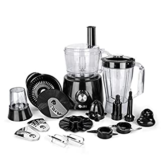 Dihl KA-FDPR-01-BLK 1.2L 800W Food Processor Multi Blender Slicer Grinder Whisk Chopper Juicer Mixer 2 Speeds & Pulse with 1.75L Jug, 800 W, 1.2 liters, Black (B07FCKZ8P5) | Amazon price tracker / tracking, Amazon price history charts, Amazon price watches, Amazon price drop alerts