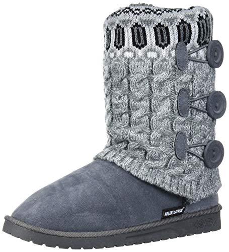 MUK LUKS Women's Cheryl Boots - Light Grey