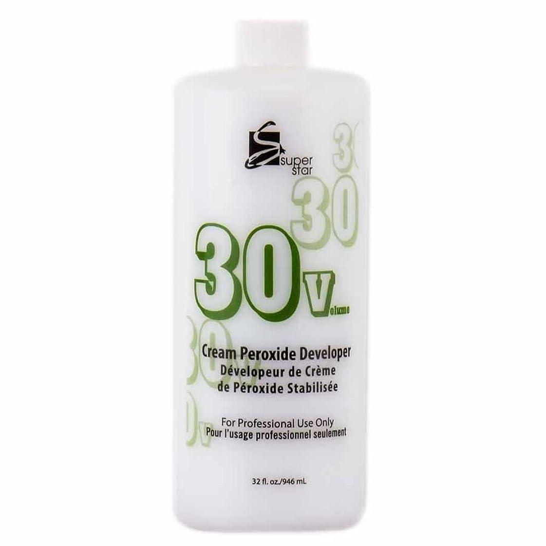 公爵ディーラー喜劇SUPER STAR Stabilized Cream Peroxide Developer 30V HC-50303 by Superstar