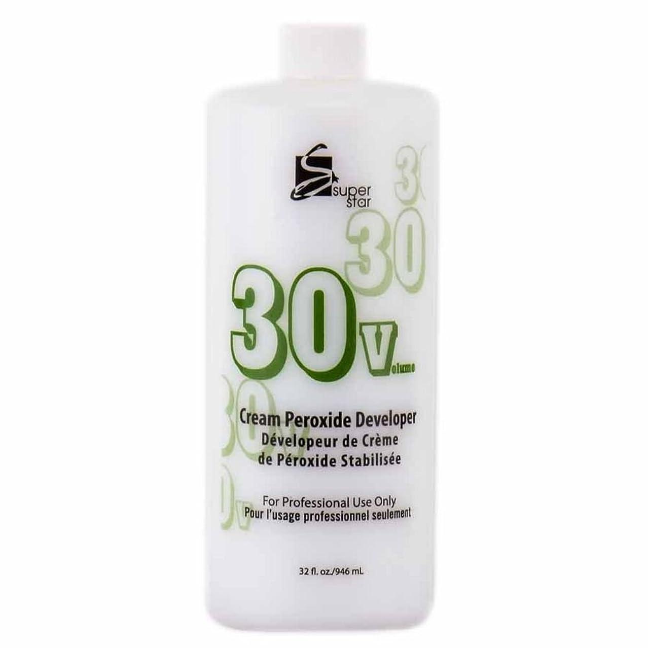 気分が良い実装するスライムSUPER STAR Stabilized Cream Peroxide Developer 30V HC-50303 by Superstar