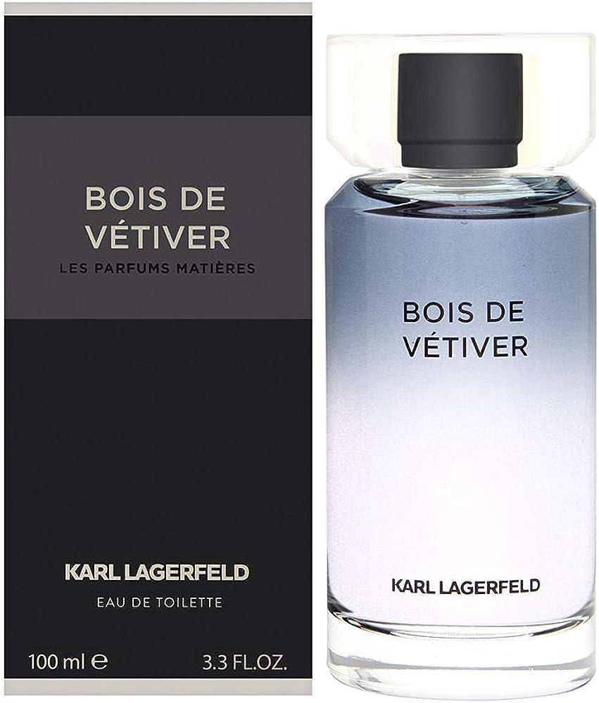 Karl lagerfeld bois de vetiver, eau de toilette,profumo per uomo, KL008A02