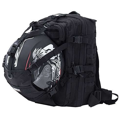 Seibertron Waterproof Large Capacity Molle Motorcycle Helmet Holder/Cycling Helmet Storage/Hiking...