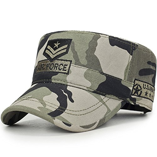 Gorra Bordada Coreana de Moda para Hombre Sombrero de Copa Plano de Camuflaje para sombreado de Sol al Aire Libre Four Seasons