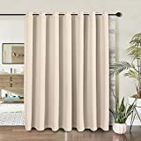 WONTEX Room Divider Curtain - Privacy Blackout Curtains for Bedroom Partition, Living Room and...