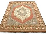 Pak Persian Rugs Handgeknüpfter Tabriz Teppich, Blass Kupfer, Wolle, Large, 240 X 333 cm