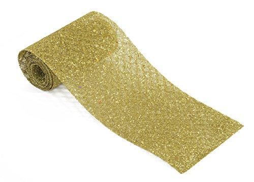 Brauns-Heitmann 84431, Stola per tovaglia Natalizia Glimmer, 180 x 15 cm, Oro (Gold)