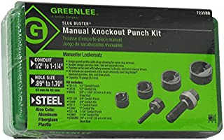 Greenlee Textron Inc 7235BB - Knockout - Knockout, Round Handle/Body Style, 1.701 in Maximum Punch Diameter