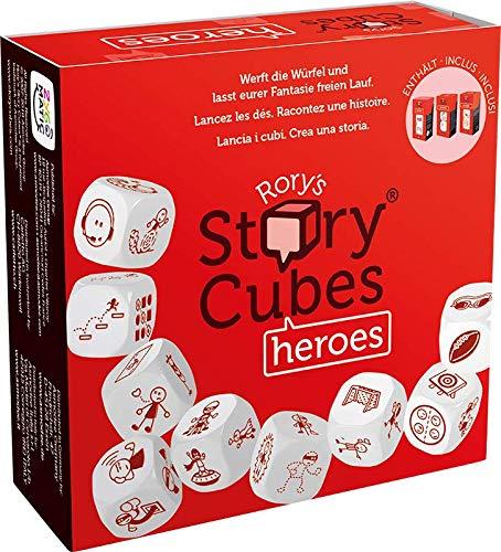 Asmodee Italia- Rory's Story Cubes Heroes Das Tischspiel für Geschichte, Color, 8087