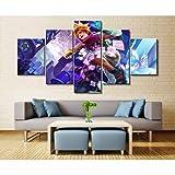 WYJIE 5 Panel LOL League of Legends Ezreal Juego Lienzo Impreso Pintura para Vivir Wall Art Home Decor HD Picture Artworks PosterNo Framed40x60cm40x80cm40x100cm