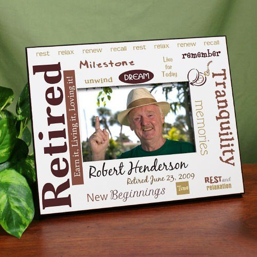 GiftsForYouNow Retirement Personalized Printed Frame - Rest and Relaxation, Fits 4x6 Photo