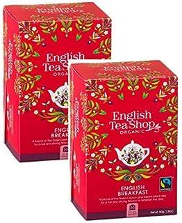 DEU English Tea Shop Englisches Frühstück Bio- und Fairtrade-Schwarztee - 2 x 20 Teebeutel 100 Gramm