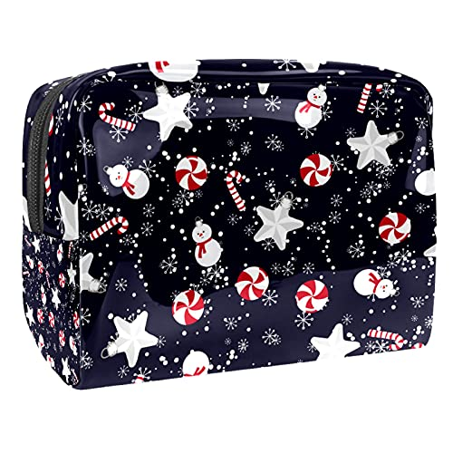 Bolsa de equipaje portátil de viaje con mango de PVC de Navidad (7,3 x 3 x 5,1 in/18,5 x 7,5 x 13 cm) 18,5 x 7,6 x 13 cm (largo x ancho x alto)