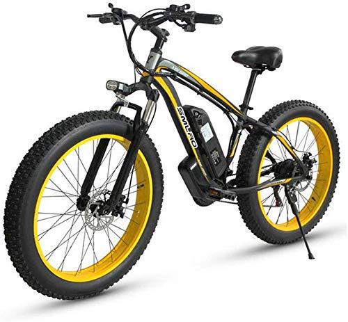 Fangfang Bicicletas Eléctricas, Eléctrica de Bicicletas de montaña, 500W Motor, 26X4 Pulgadas Fat Tire E-Bici, 48V 15AH batería de 27 velocidades Adultos de la Bicicleta - for Todo Terreno,Bicicleta