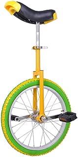 18 Inch Mountain Bike Wheel Unicycle with Quick Release Adjustable Color Lemon