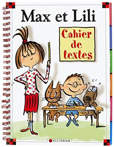 Cahier de textes Max et Lili