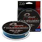 Daiwa Tournament 8 trenza EVO 300 M Multi Colour - hilo de pesca Talla:Dm: 0,30mm