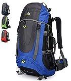 Doshwin 70L Mochila Senderismo Trekking Camping Viaje para Hombre Mujer (Azul)