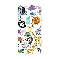 igcase AQUOS R2 706SH 専用 ハードケース スマホカバー カバー pc 009838 動物 キリン イラスト