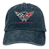 YeeATZ Corvette Logo Stylish Casquette Amplification Unisex Old Wash Old Baseball Cap Metal Adjustable Cap,Cowboy Hat New