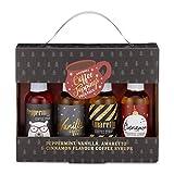 Modern Gourmet Foods - Kaffee-Sirup Geschenkset - Kaffee-Topping Set mit 4 Individuellen Geschmacksrichtungen