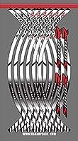WhaleZ 12ストリップオートバイアクセサリーホイールステッカー反射リムストライプアウターリムステッカーデカール For BMW S1000R 用