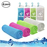 Cooling Towel,Vinsco 4 Pack Cool Towels Microfiber Chilly Ice Cold Head Band Bandana