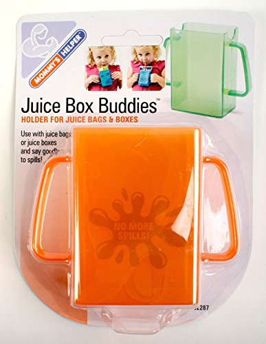 Mommys Helper Juice Box Buddies Holder for Juice Bags and Boxes, Colors May Vary by Mommy's Helper