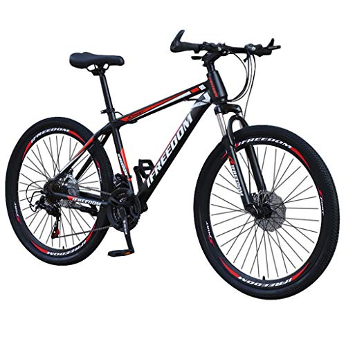 Bike, 26 inch Bike 21 Speed Junior Carbon Steel Full Mountain Bike Stone Mountain ​​Bicycle Fast delivery from The US (G)