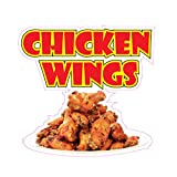 Chicken Wings Concession Restaurant Food Truck Die-Cut Vinyl Sticker 10 inches...