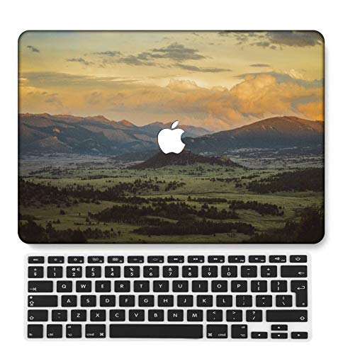 GangdaoCase Plastic Ultra Slim Light Hard Shell Case Cut Out Design Compatible New MacBook Pro 13 inch with/Without Touch Bar/Touch ID with UK Keyboard Cover A2159/A1989/A1706/A1708 (Painting B 0435)