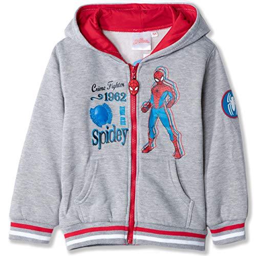 Marvel Sudadera con Capucha y Forro Polar con diseño de Spiderman, niños de 2 a 8 años Gris Gris 2-3 años