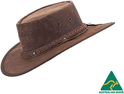 4c80b540378 Hats From OZ Real Australian Leather Hat Original Hat-In-a-Bag Direct
