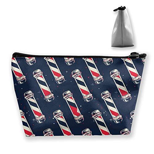 Kosmetiktasche für Damen und Mädchen, weiche Tasche, Handtasche, Mini-Münzgeldbörse, Make-up-Taschen (Vintage-Barber-Shop-Werkzeuge)
