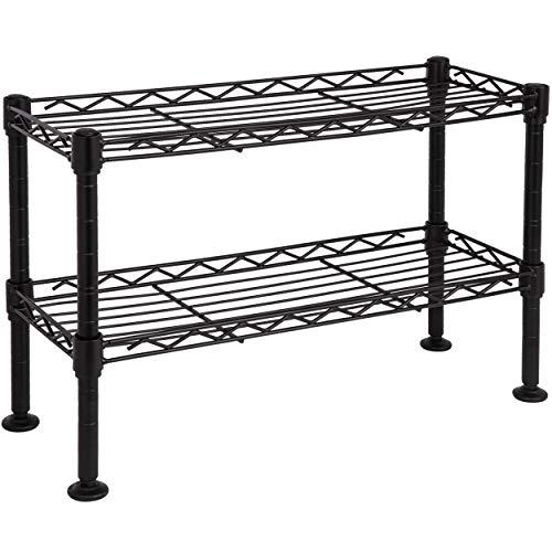ONVAYA® Küchenregal stehend aus Metall | Silber | Schwarz | Küchen-Organizer Regal | Küchenregal für Arbeitsplatte (Schwarz Gewürzregal)