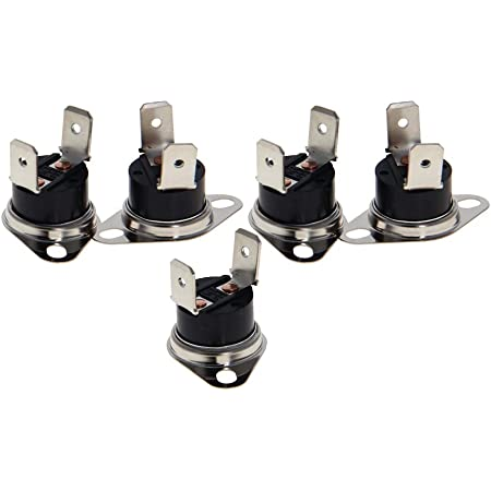 Fielect 2Pcs KSD301 Thermostat 60/°C//140/°F Normally Closed N.C Snap Disc Limit Control Switch Microwave Thermostat Thermal Switch Bent Feet