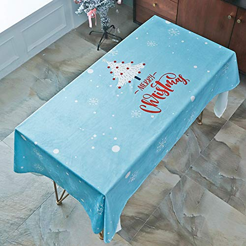 LIUJIU Polyester Table Cloth Rectangle Tablecloth 3D Floral Table Cover for Party Dinning Decoration White,140X230cm