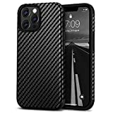 Tasikar Leather Case Compatible with iPhone 13 Pro Case, Carbon Fiber Texture Silicone Bumper Hard Back Cover Protective Phone Case Compatible for iPhone 13 Pro 6.1'' 5G 2021, Black
