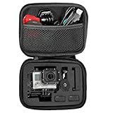 TEKCAM Carrying Case Protective Bag with Water Resistant EVA Compatible with Gopro Hero 7 6 5/DBPOWER/AKASO/APEMAN/Campark/SOOCOO/Crosstour 4k Waterproof Action Camera Travel Home Storage (Small)