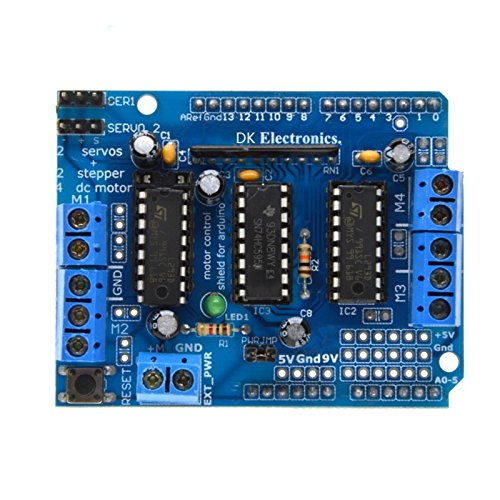 Lysignal L293D Motor Control Shield Motor Drive Expansion Board for Arduinos MEGA/UNO Diecimila & Duemilanove Robot Car Motor Control Shield