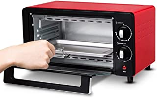 L.TSA Kitchen Mini Kitchen Oven, Mini Oven Electric Cooker and Grill, Black Mini Oven & Grill, Horno multifunción, Mini Horno eléctrico, Temporizador de 60 Minutos, Capacidad de 10 l, Control