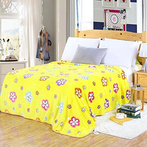 Couvertures Chaude matérielle Jaune de de lit de Chambre à Coucher de Polyester de de de Quatre Saisons: 180 * 200cm