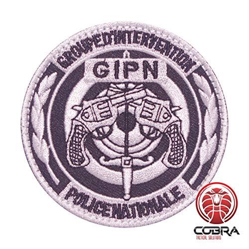 Cobra Tactical Solutions Groupe D'intervention GIPN Police Écusson brodé avec fermeture Velcro pour Airsoft Paintball
