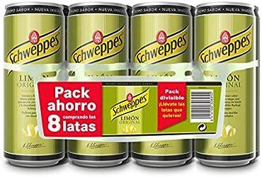 Schweppes Bebida de Limón, 8 x 33cl