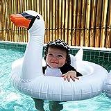 WZXHN Anillo de natación Piscina de Cisne Inflable Gigante Flotador de natación Anillo de natación de Piscina de Cisne Fiesta navideña Diversión acuática Islas Piscinas 130X102X99cm-